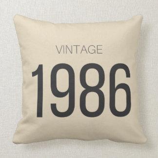 Vintage 1986 throw pillow