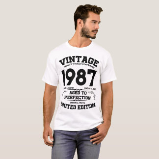 VINTAGE 1987 AGED TO PERFECTION LIMITED EDITION T-Shirt