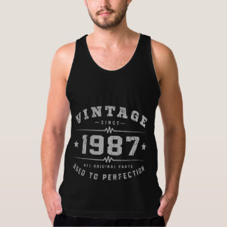 Vintage 1987 Birthday Tank Top