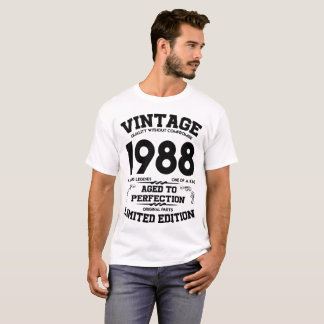 VINTAGE 1988 AGED TO PERFECTION LIMITED EDITION GE T-Shirt