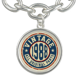 Vintage 1988 All Original Parts Charm Bracelets