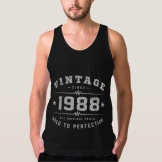Vintage 1988 Birthday Tank Top