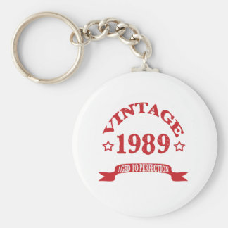 Vintage 1989 Aged to Paerfection Keychain