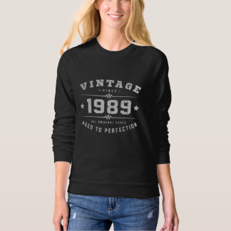 Vintage 1989 Birthday Sweatshirt