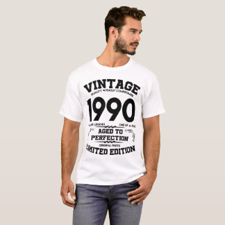 VINTAGE 1990 AGED TO PERFECTION LIMITED EDITION T-Shirt