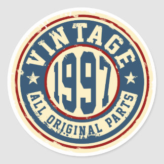 Vintage 1997 All Original Parts Classic Round Sticker