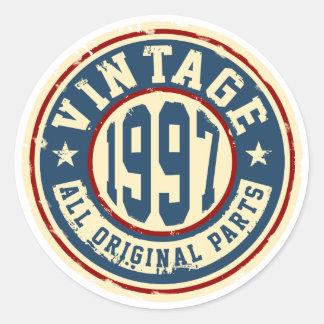 Vintage 1997 All Original Parts Round Sticker