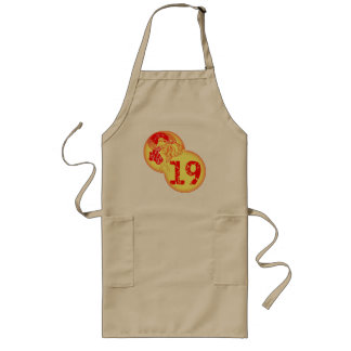 Vintage 19th Birthday Gifts Long Apron