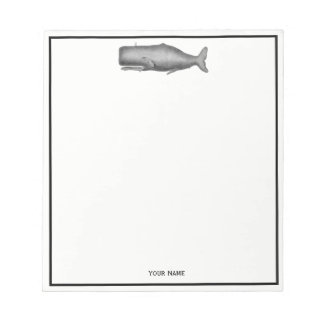 Vintage 19th Century Whale Drawing Notepad
