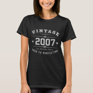 Vintage 2007 Birthday T-Shirt