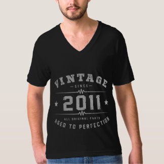 Vintage 2011 Birthday T-Shirt