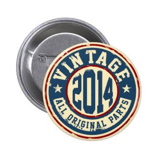 Vintage 2014 All Original Parts 2 Inch Round Button