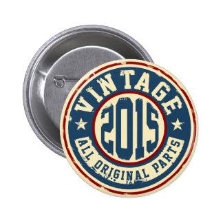 Vintage 2015 All Original Parts 2 Inch Round Button