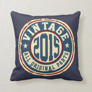 Vintage 2015 All Original Parts Throw Pillow