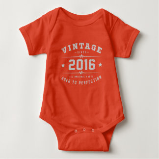 Vintage 2016 Birthday Baby Bodysuit