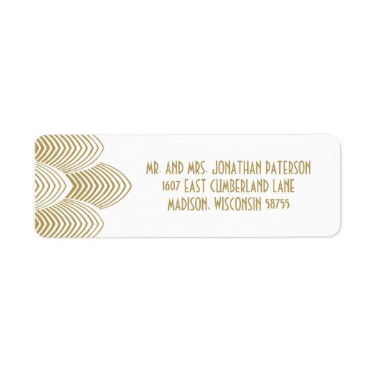Vintage 20's Art Deco Scalloped Wedding Label Return Address Label