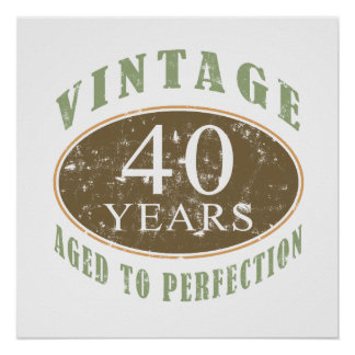 Vintage 40th Birthday Poster