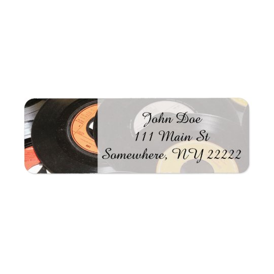 Vintage 45rpm Records Return Address Label