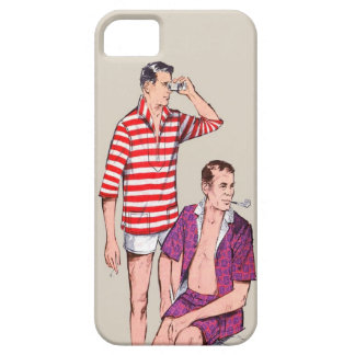 Vintage 50s Couple of Manly Men iPhone 5 Cover