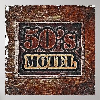 Vintage 50's Motel - Poster