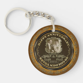 Vintage 50th Anniversary ID195 Keychain