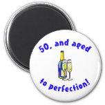 Vintage 50th Birthday Gag Gifts Fridge Magnets
