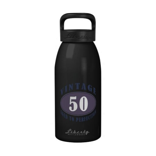 Vintage 50th Birthday Gifts For Men Reusable Water Bottles
