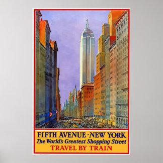 Vintage 5th Avenue New-York City Travel Poster