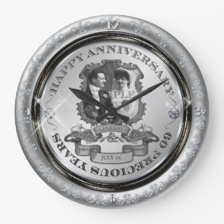 Vintage 60th Anniversary Clocks