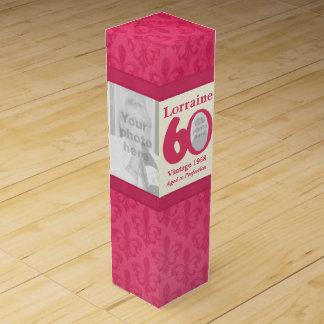 Vintage 60th Birthday name & photos custom box