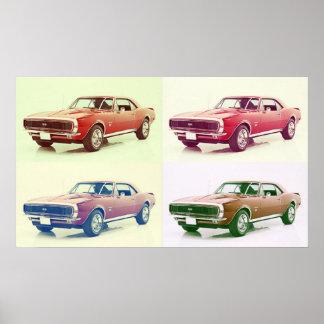 Vintage 67 Camaro Art Poster