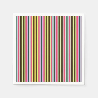 Vintage 70's Colorful StripesPattern Disposable Napkins