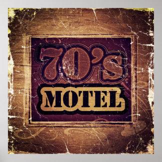 Vintage 70's Motel - Poster