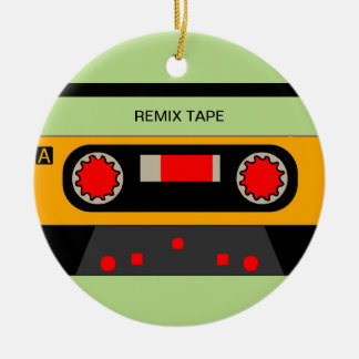 Vintage 80's Cassette Ceramic Ornament