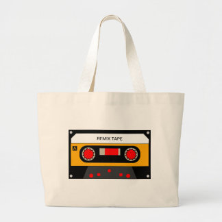 Vintage 80's Cassette Large Tote Bag