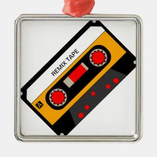 Vintage 80's Cassette Metal Ornament