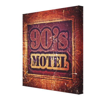 Vintage 90 s Motel 2 - Wrapped Canvas Gallery Wrapped Canvas