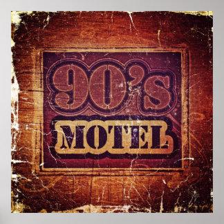Vintage 90 s Motel - Poster