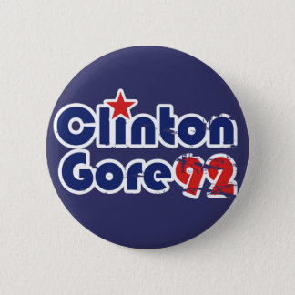 Vintage 90s Clinton Gore 1992 2 Inch Round Button