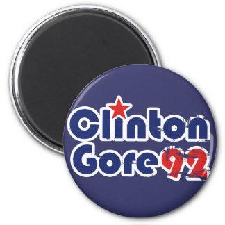 Vintage 90s Clinton Gore 1992 Magnets