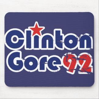 Vintage 90s Clinton Gore 1992 Mousepad