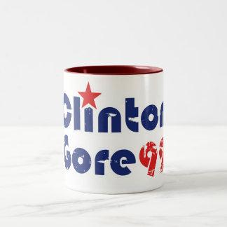 Vintage 90s Clinton Gore 1992 Mug