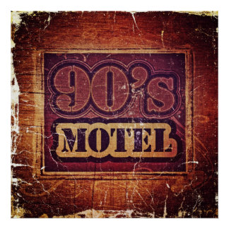 Vintage 90's Motel - Poster