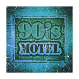 Vintage 90's Motel - Wrapped Canvas Stretched Canvas Prints