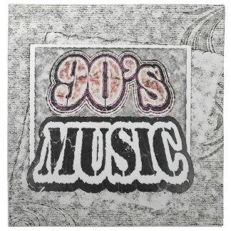 Vintage 90's Music - Cloth Napkins