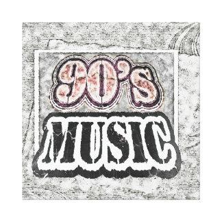 Vintage 90's Music - Wrapped Canvas Canvas Print
