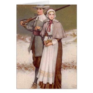 Vintage - A Colonial Thanksgiving, Card