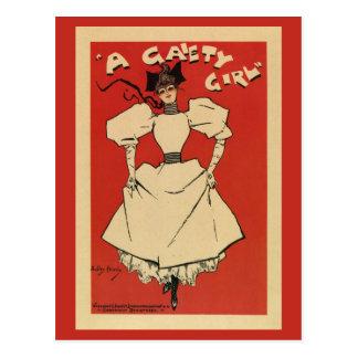 vintage A Gaiety girl musical (regular) Postcard