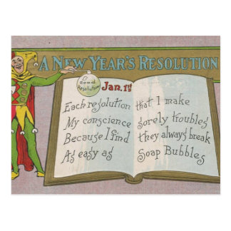 Vintage A new year s resolution - Post Card
