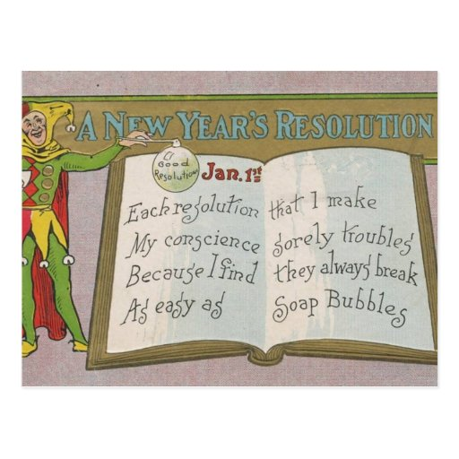 Vintage : A new year's resolution - Post Card